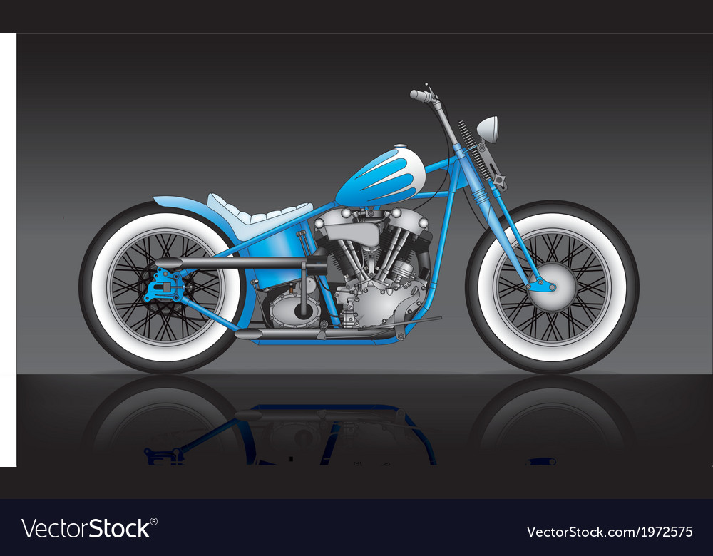 Blue custom bobber on black background