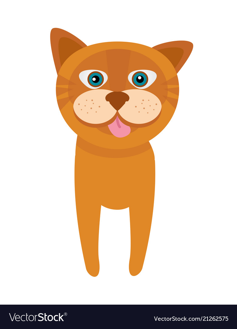 Cat with pink tongue poster
