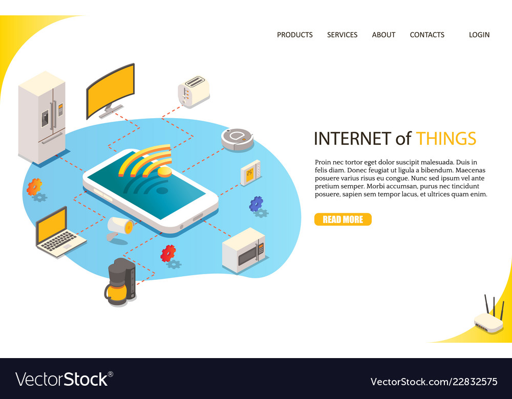 Internet of things landing page website