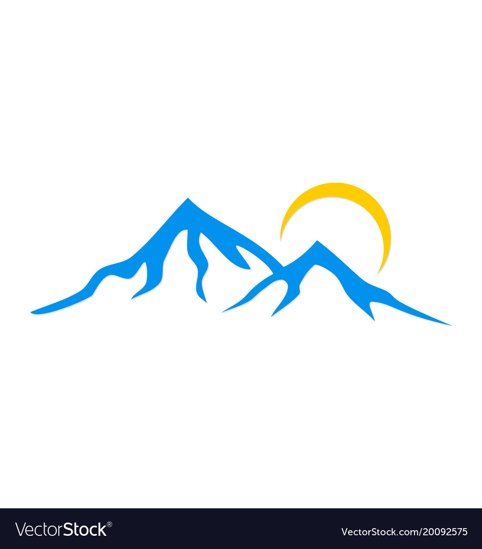mountain logo royalty free vector image vectorstock rh vectorstock com mountain vector files mountain vector graphics