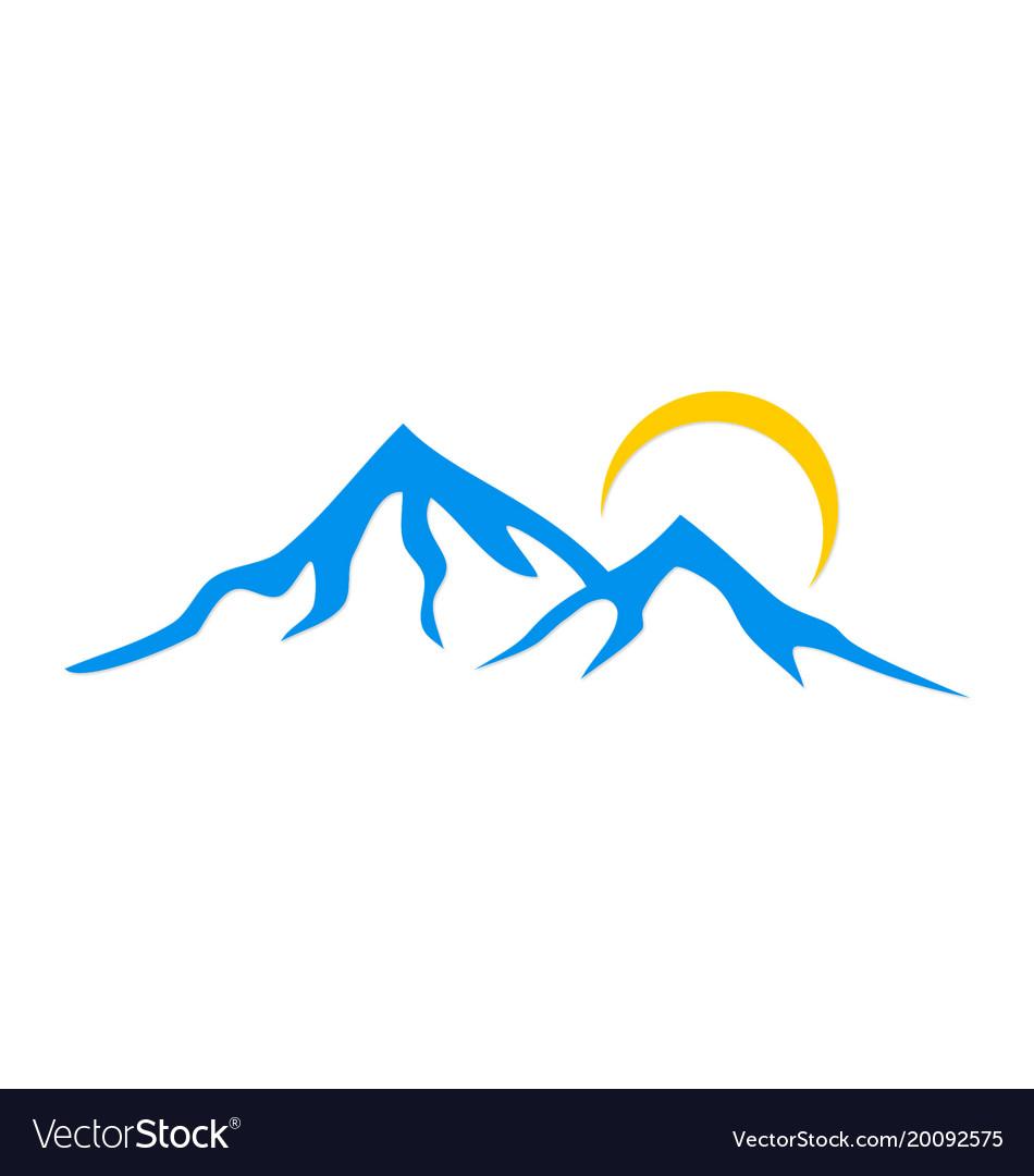 Mountain Logo Royalty Free Vector Image Vectorstock