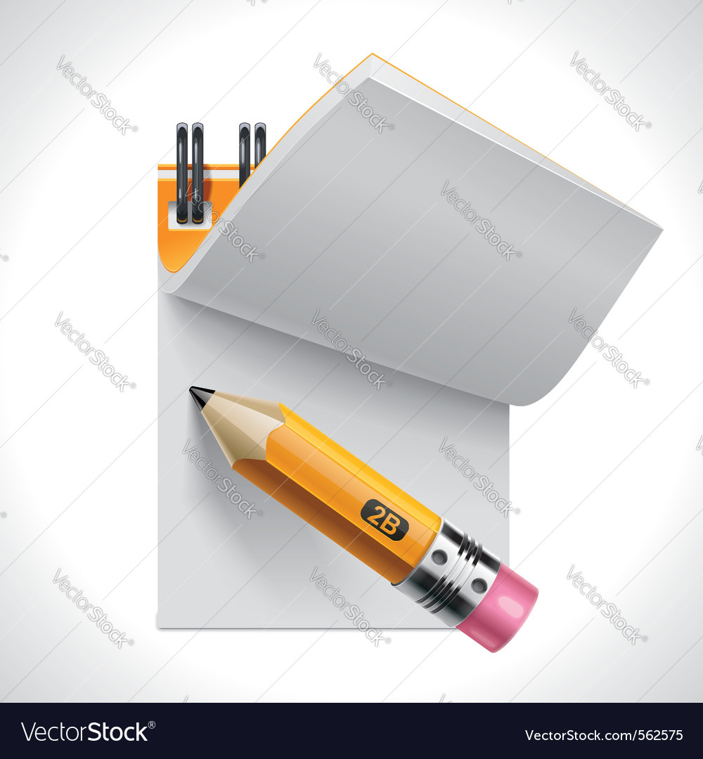 Open notepad with pencil xxl icon