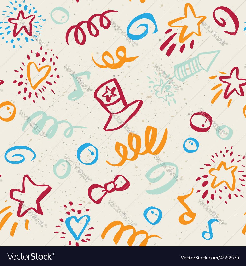 Seamless pattern on 4 july