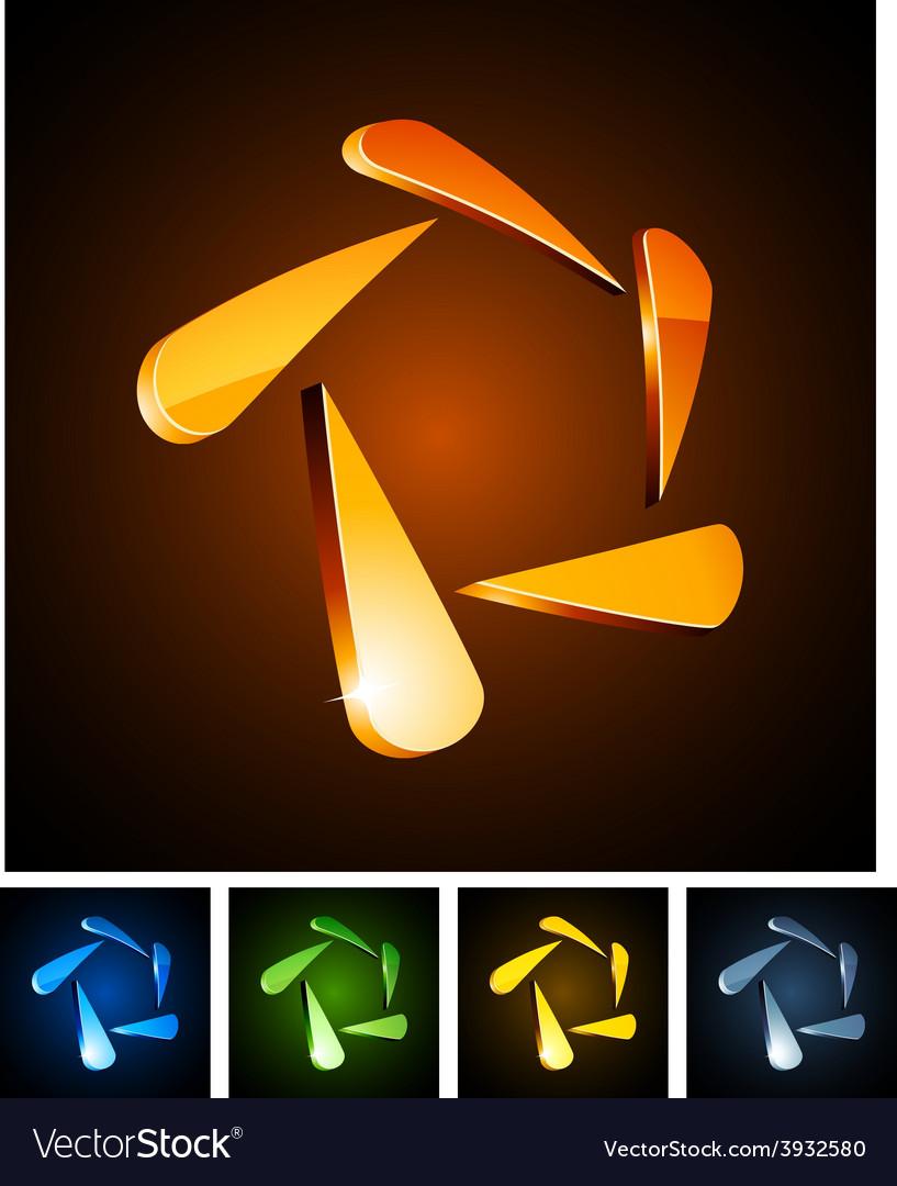 3d star emblems