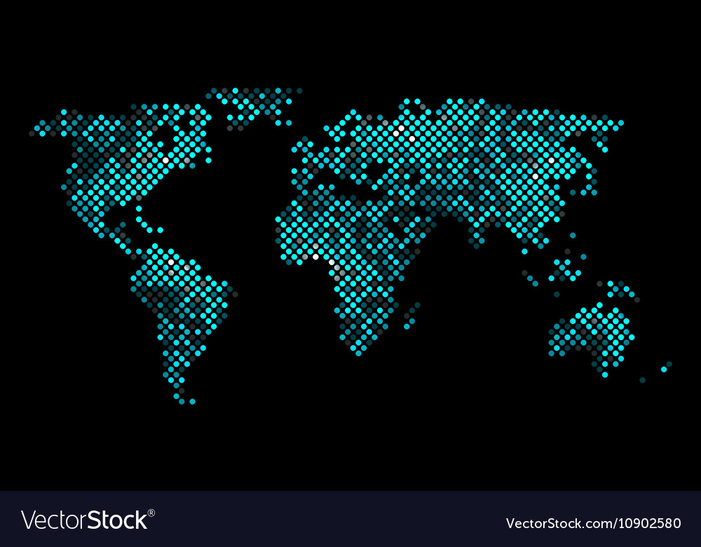 Colorful pixel world map royalty free vector image colorful pixel world map vector image gumiabroncs Choice Image
