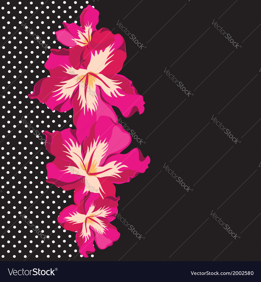 Floral pattern with beautiful flowers hand-drawing