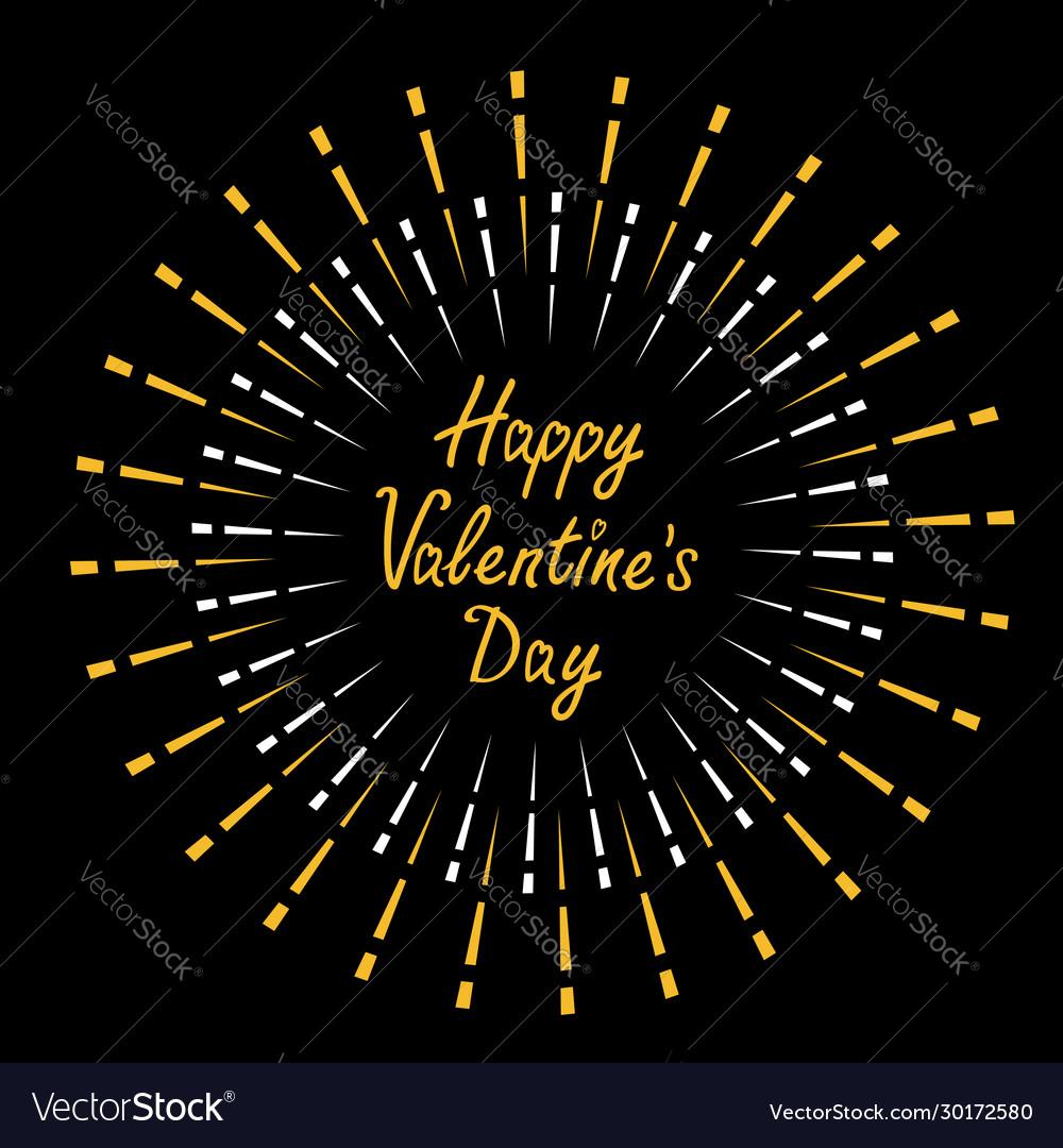 Happy valentines day festive fireworks decoration