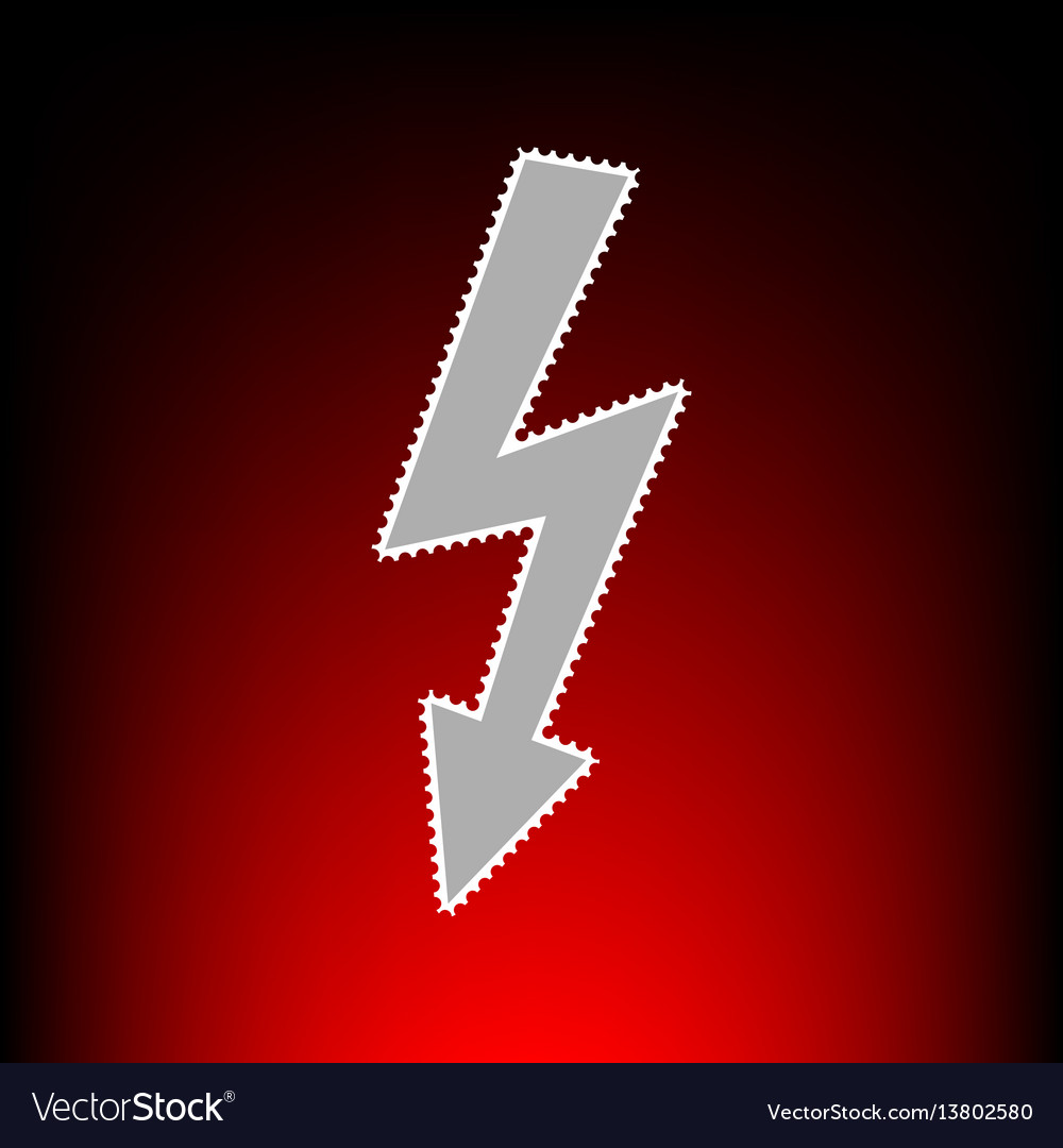 High voltage danger vector image