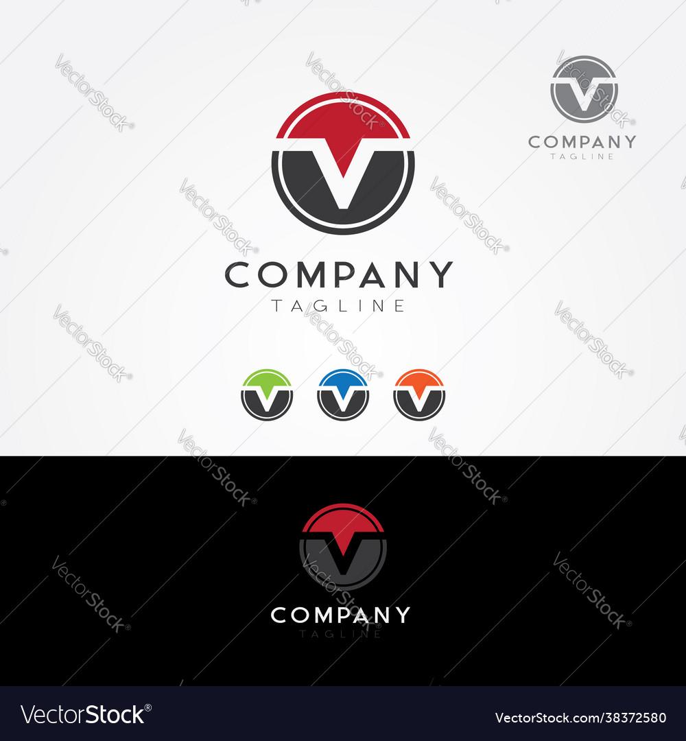 Letter v logo symbol icon