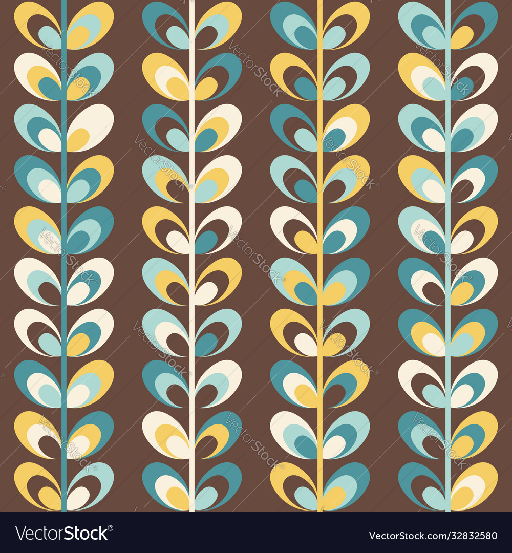 Midcentury geometric retro pattern vintage colors