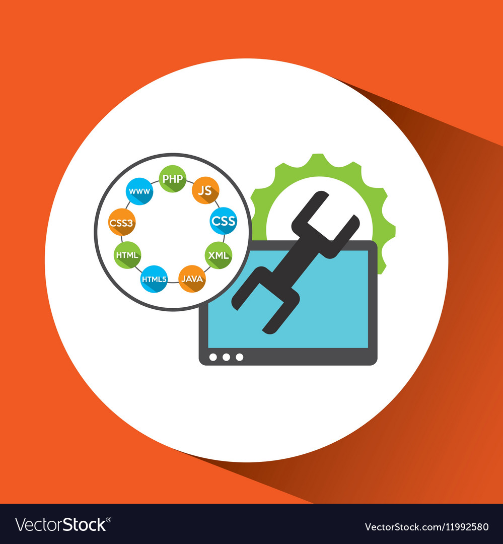 Programming languages tool support technology vector image