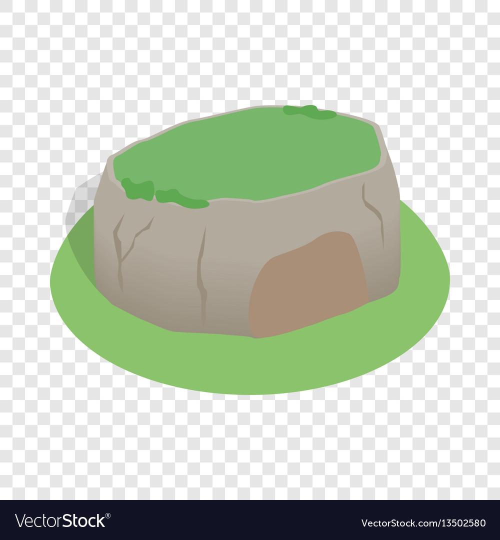 Sigiriya rock sri lanka isometric icon vector image