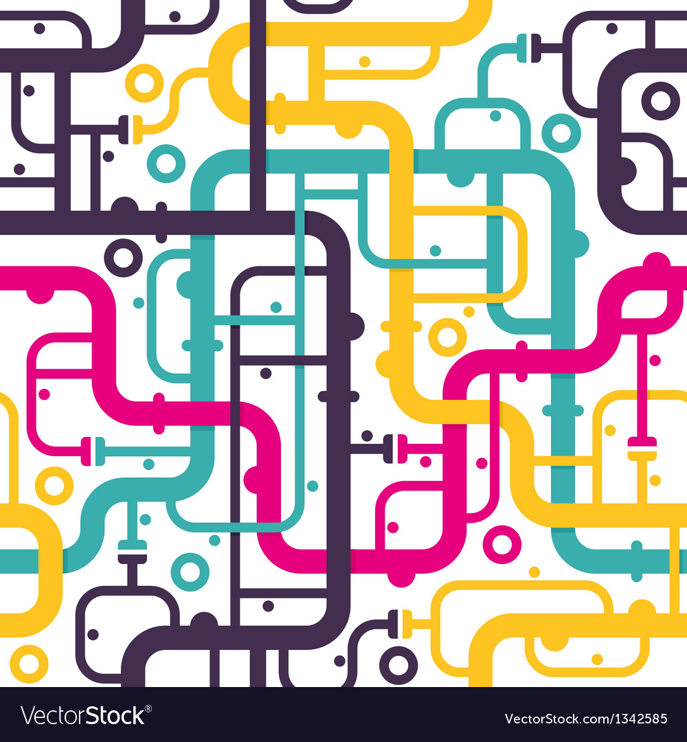 Abstract piping seamless pattern