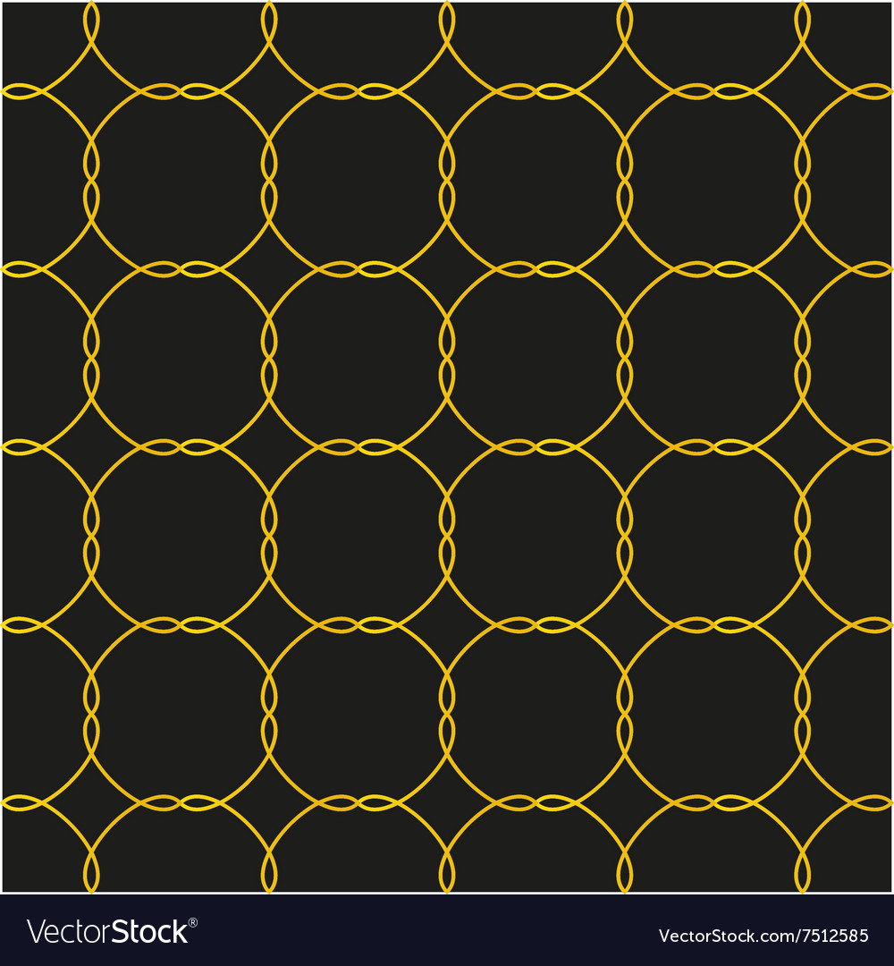 Black and gold seamless pattern background