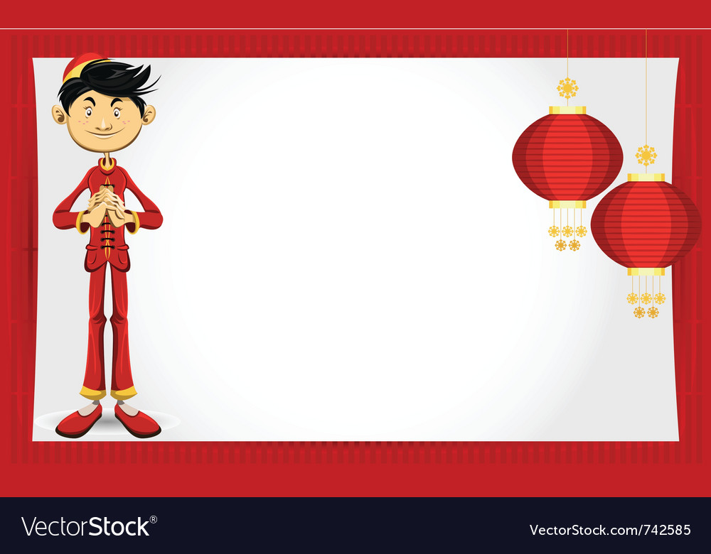 Chinese boy new year