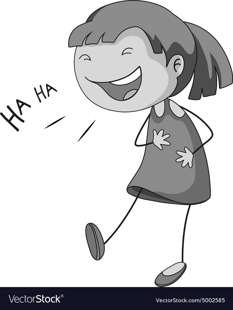 Girl laughing Royalty Free Vector Image - VectorStock