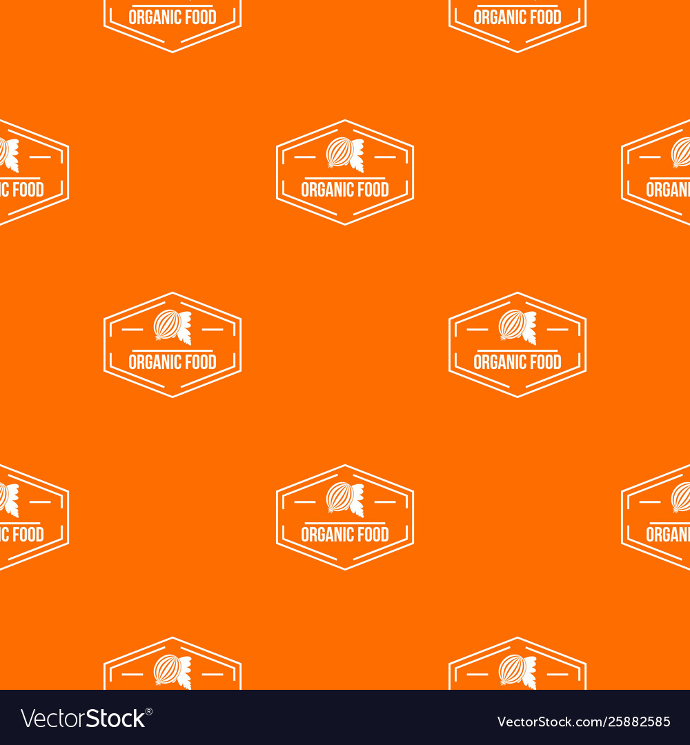Organic Food Pattern Orange Royalty Free Vector Image