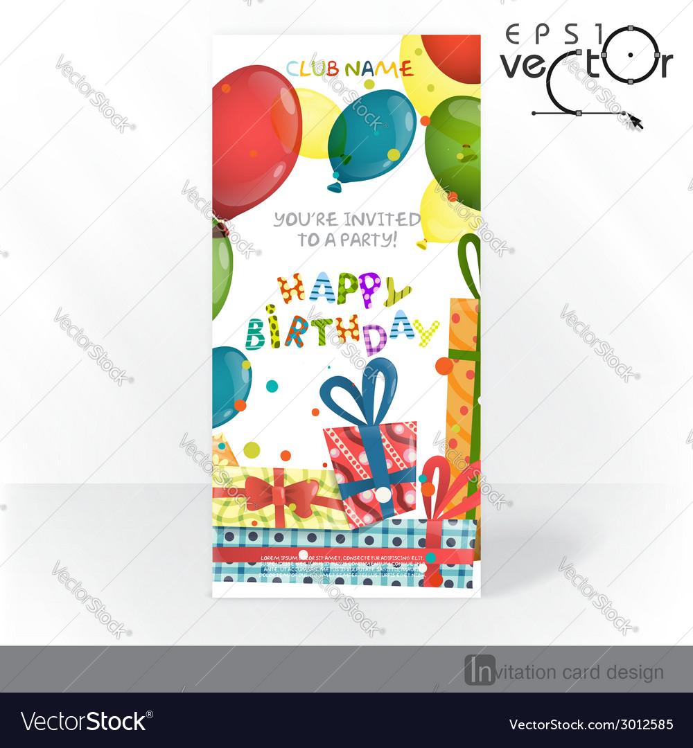 Party Invitation Card Design Template