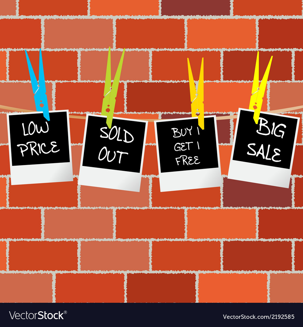 Photo frames with sale and promotional Royalty Free Vector