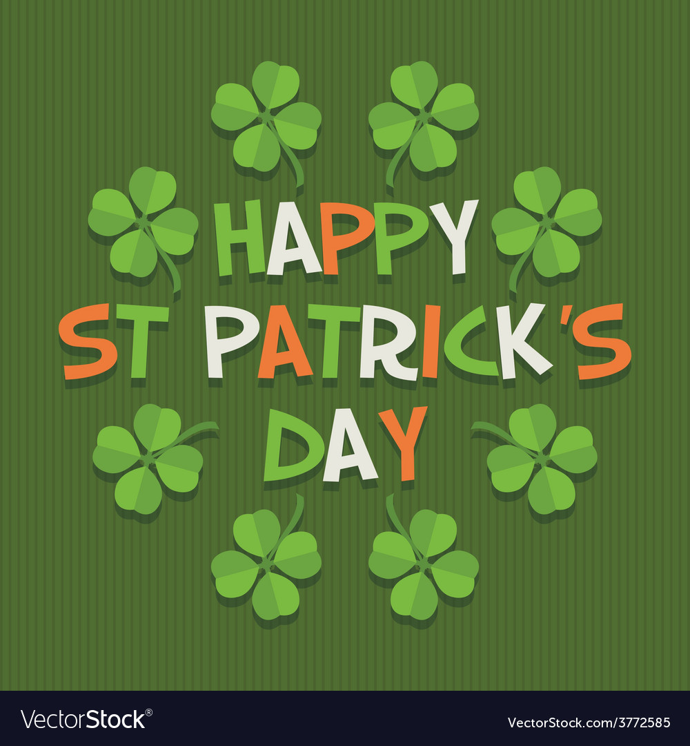 St Patricks Day Decoration Vector Image