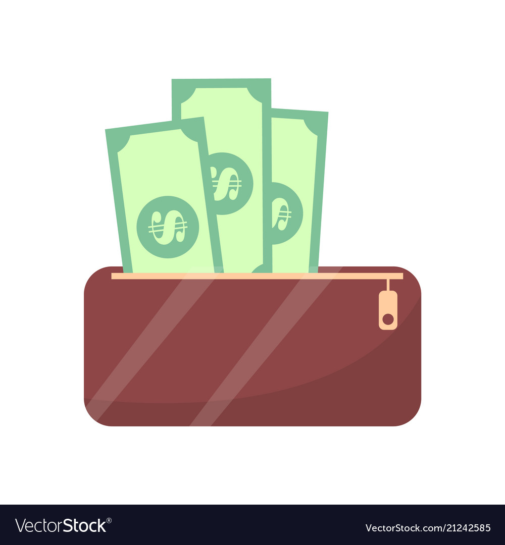 Wallet and money cash objects