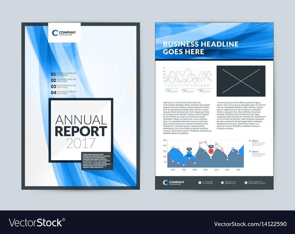 Annual report cover design template flyer design