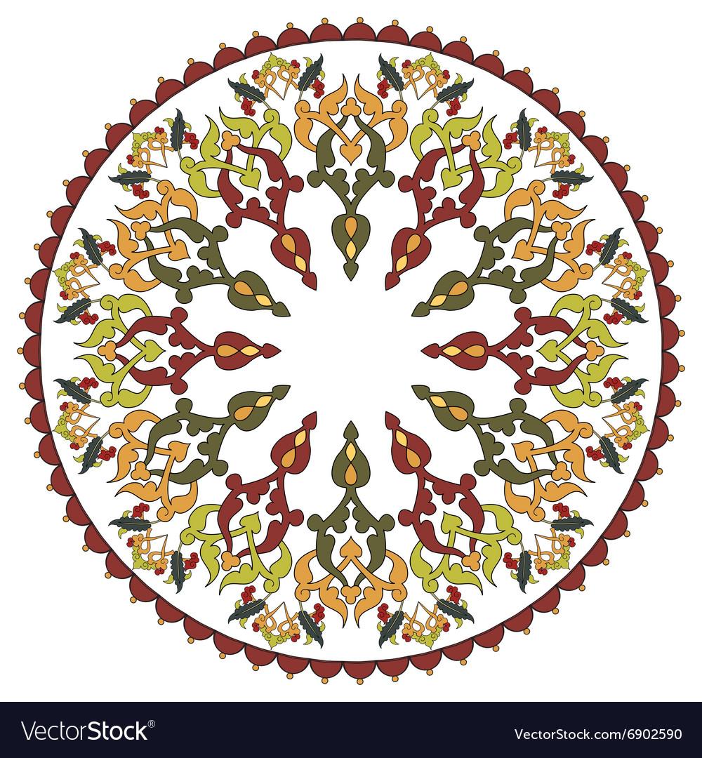 Antique ottoman turkish pattern design twenty