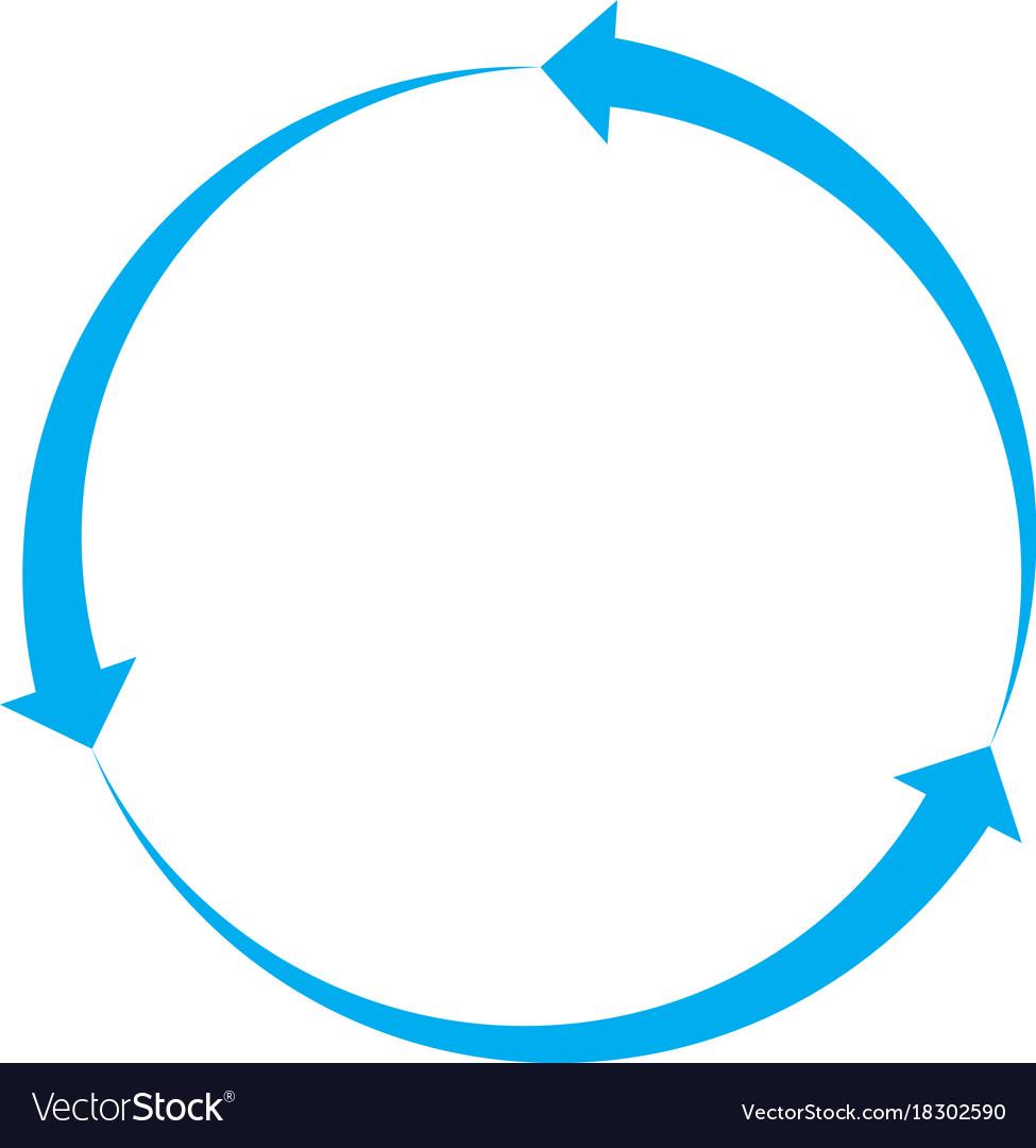 Blue arrow icon on white background blue arrow