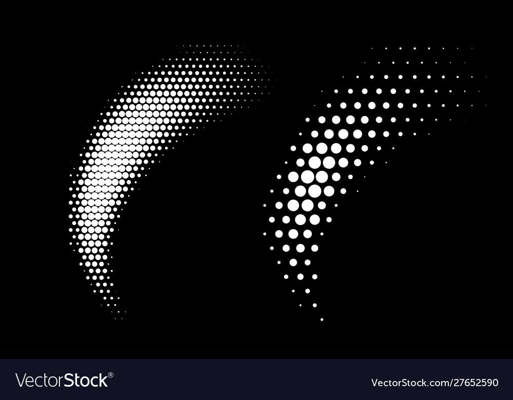 Halftone dots curve gradient pattern background