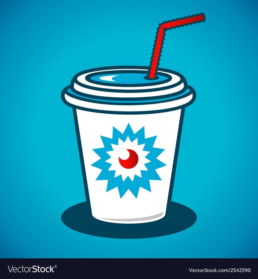 Milkshake in a paper cup