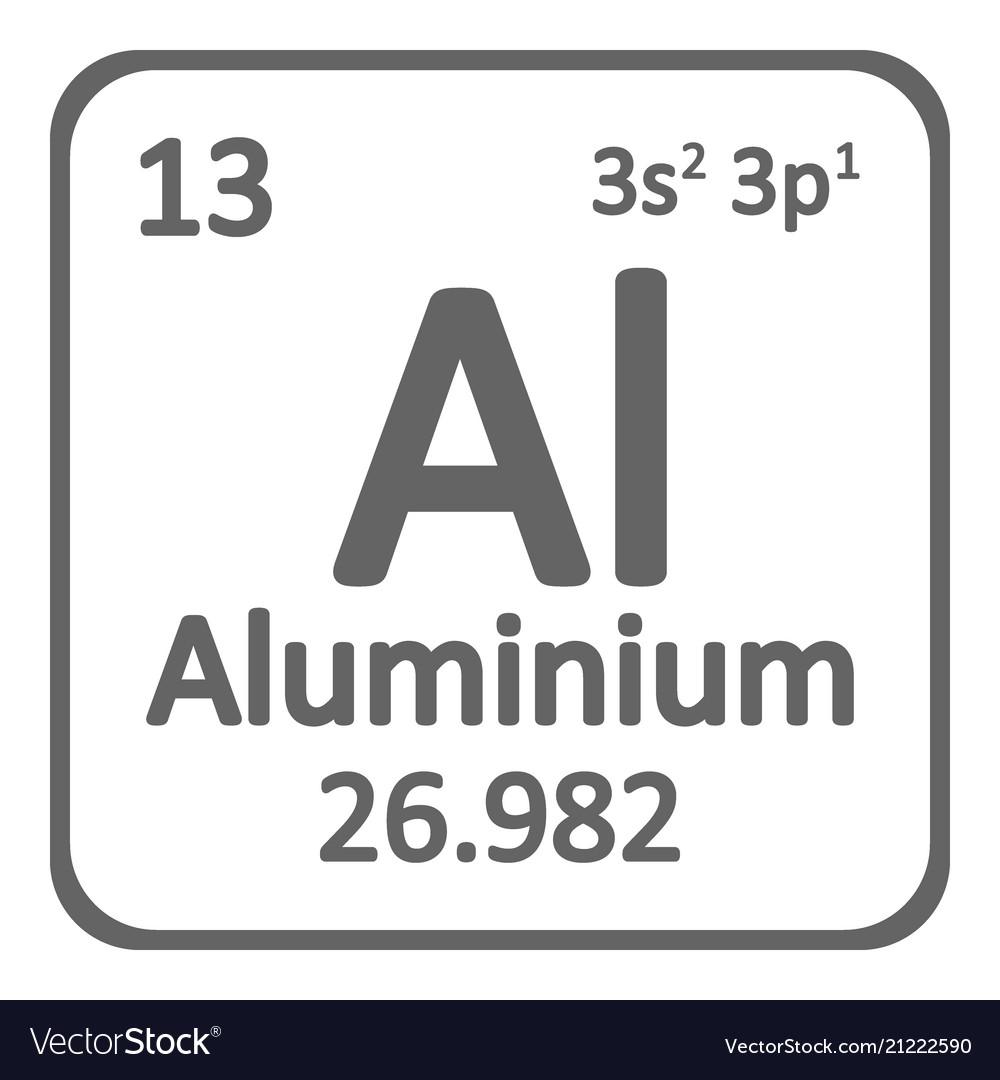 Periodic table element aluminium icon royalty free vector periodic table element aluminium icon vector image urtaz Choice Image
