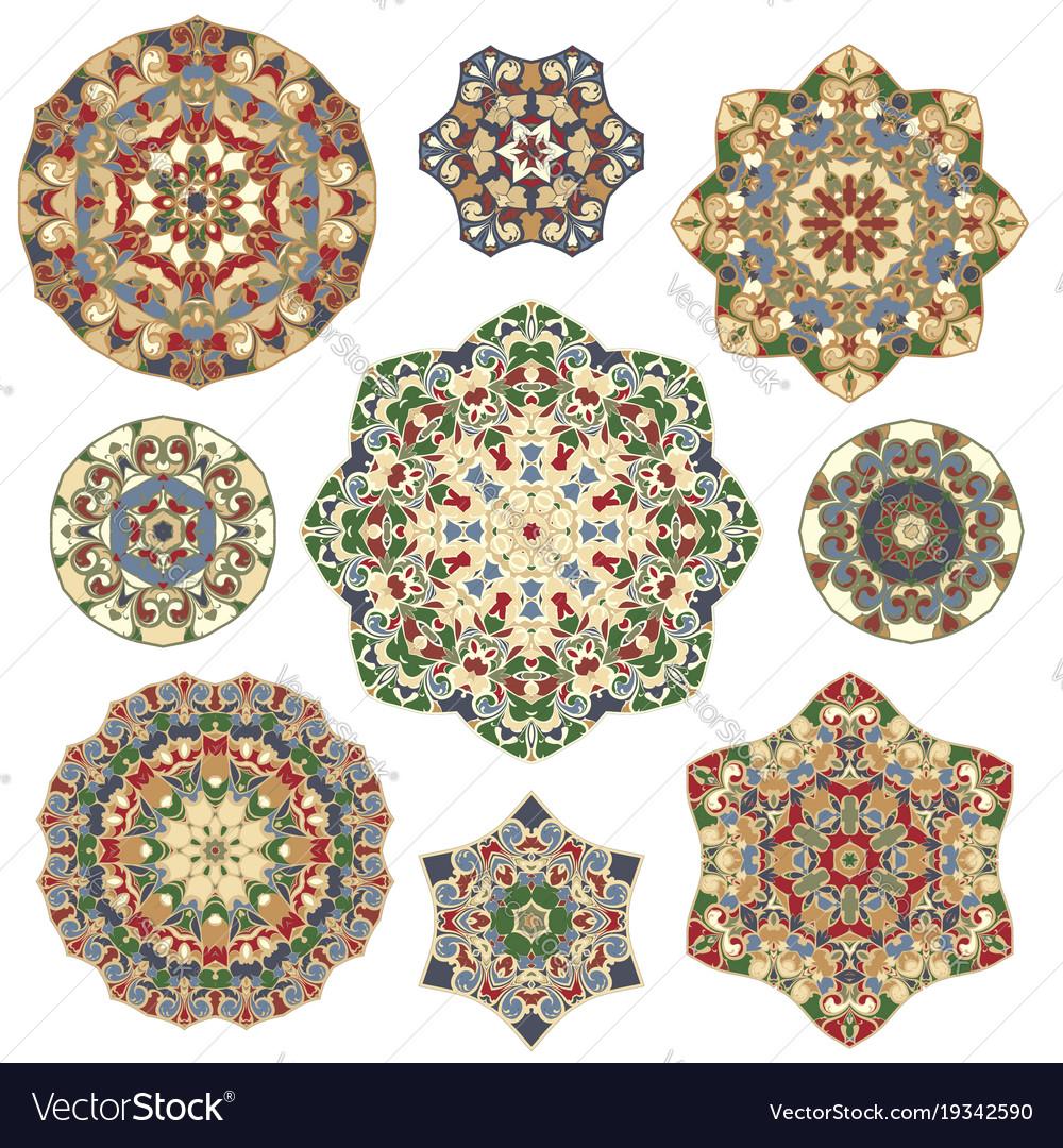 Set of abstract circular elements
