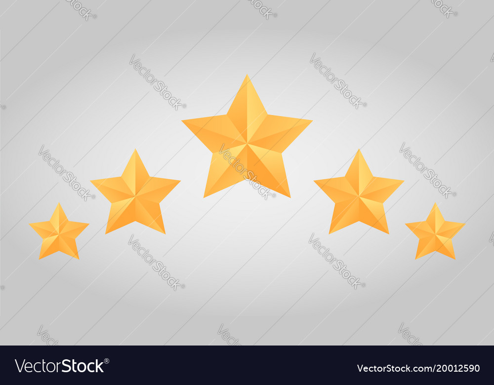 Set of paper origami star for logos icons and vector image