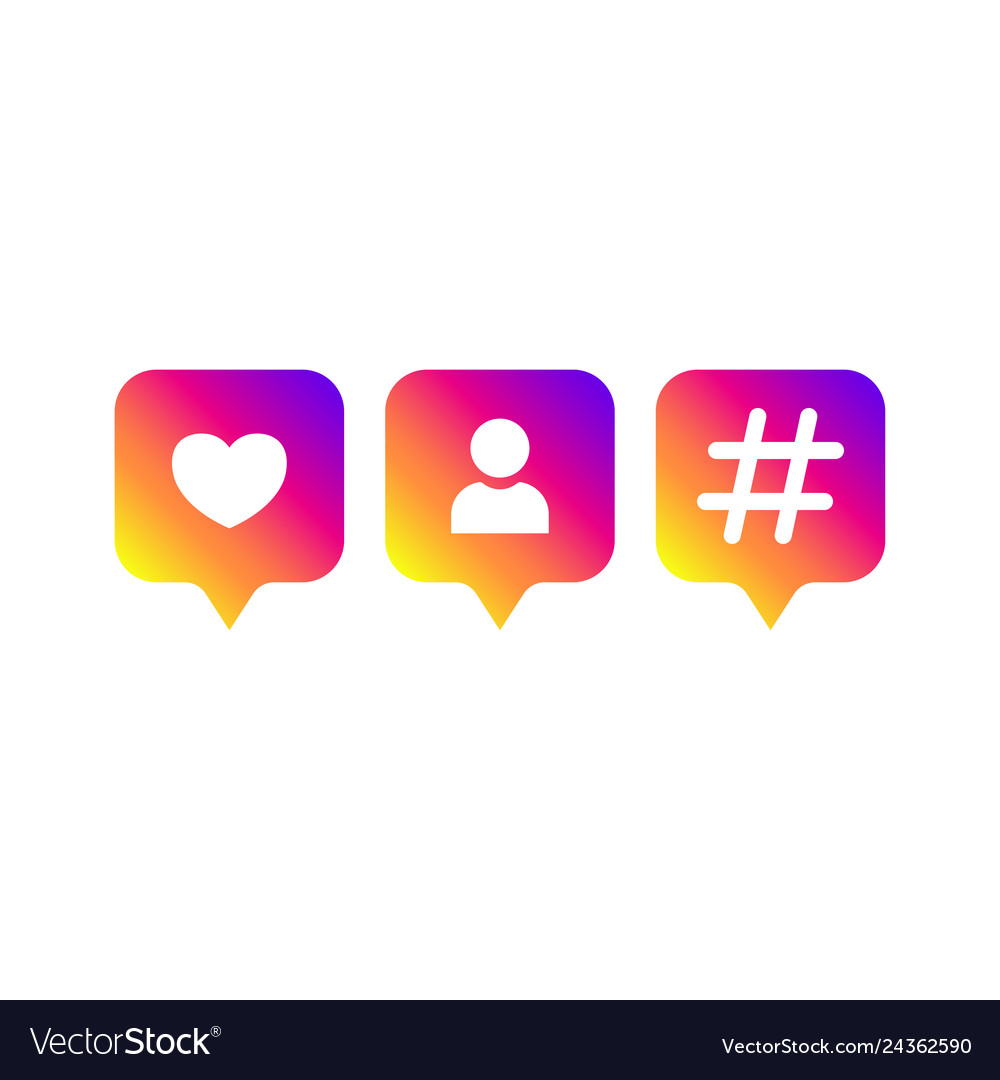 Social media modern like follower hashtag Vector Image