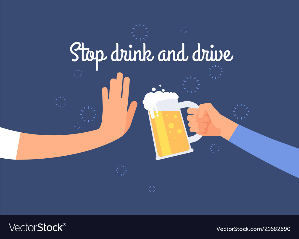 Stop drink and drive warning to driver poster