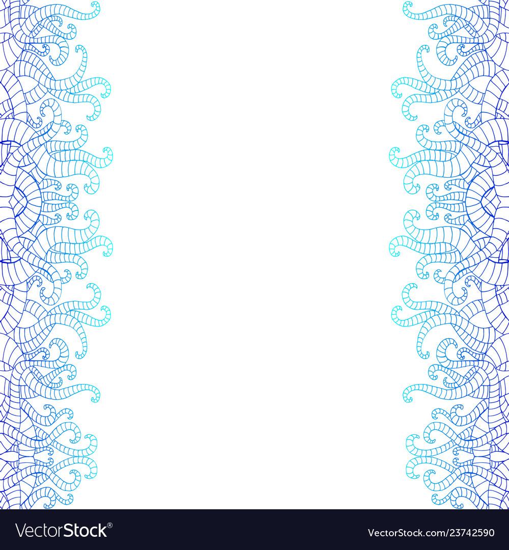Vertical decorative doodle seamlesspattern in