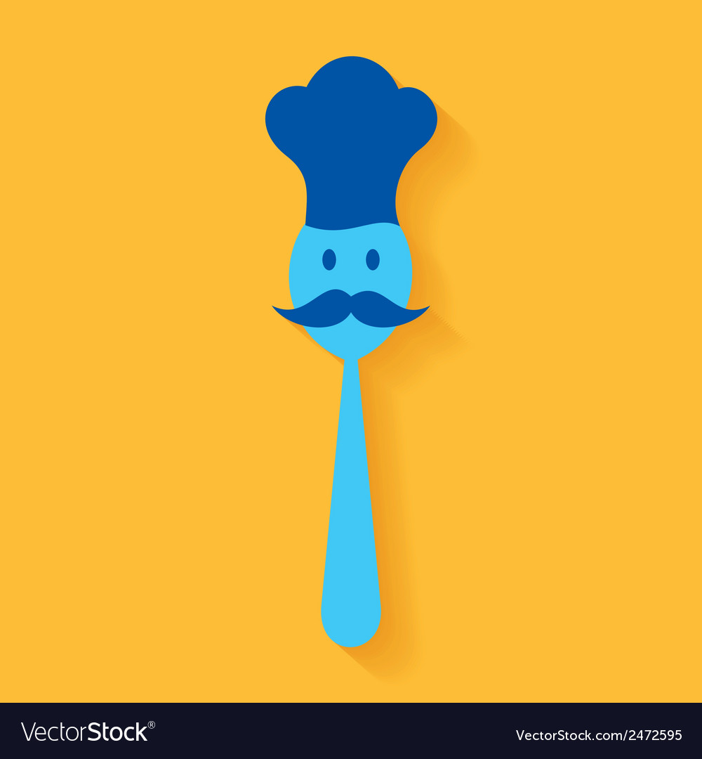 A chef made by spoon stock