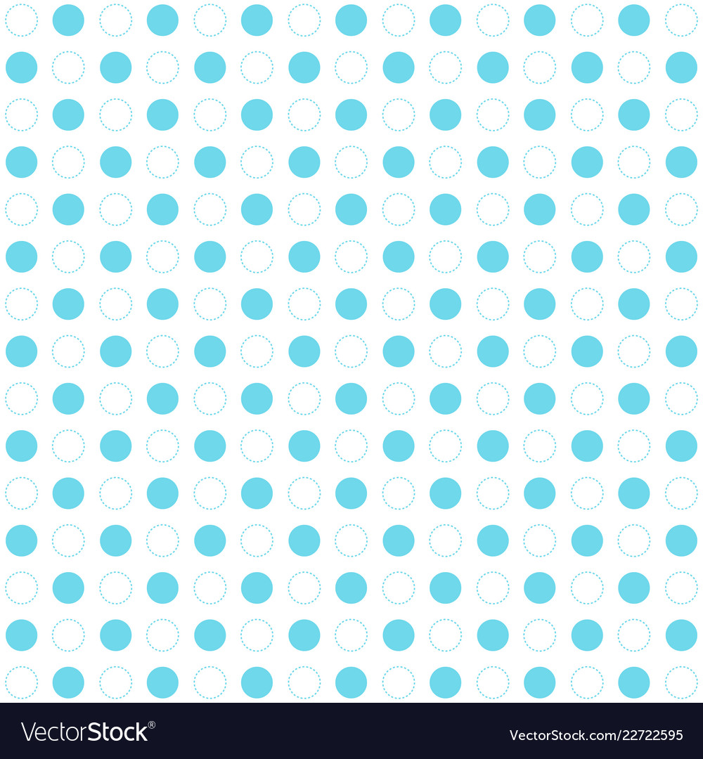 Blue polka dots seamless pattern on white