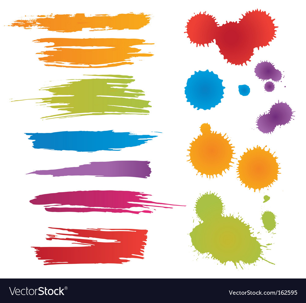 Colorful stains