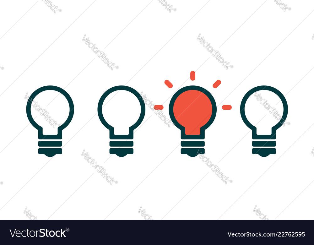 Concept creative idea with light bulb