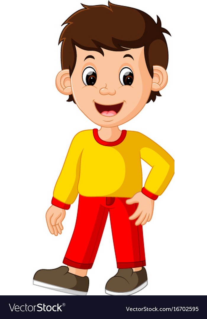 cute boy cartoon good posing royalty free vector image word clip art word clip art free