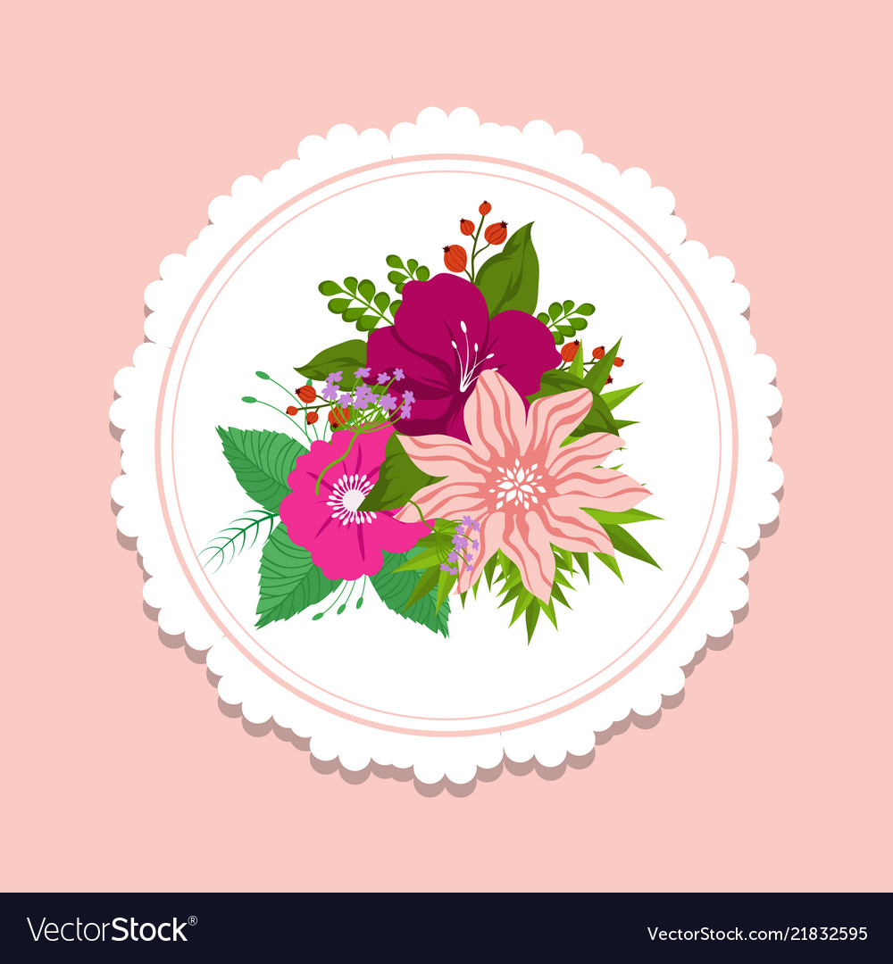 Fashion floral banner template cute design