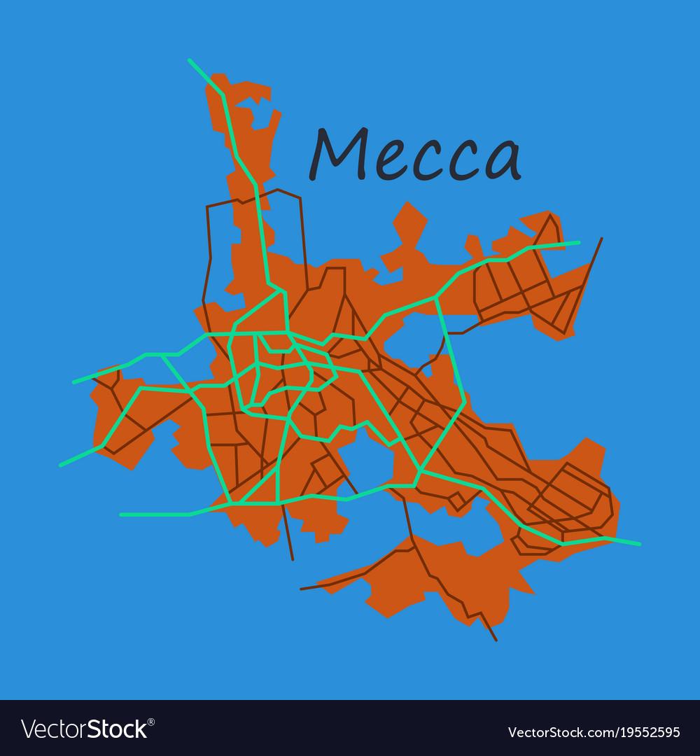 Mecca, Map, Saudi & Arabia Vector Images (45)