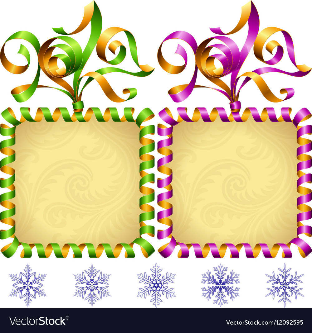New Year 2017 square frame set