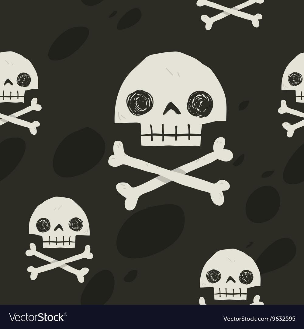 Pirate cartoon skull flag party card