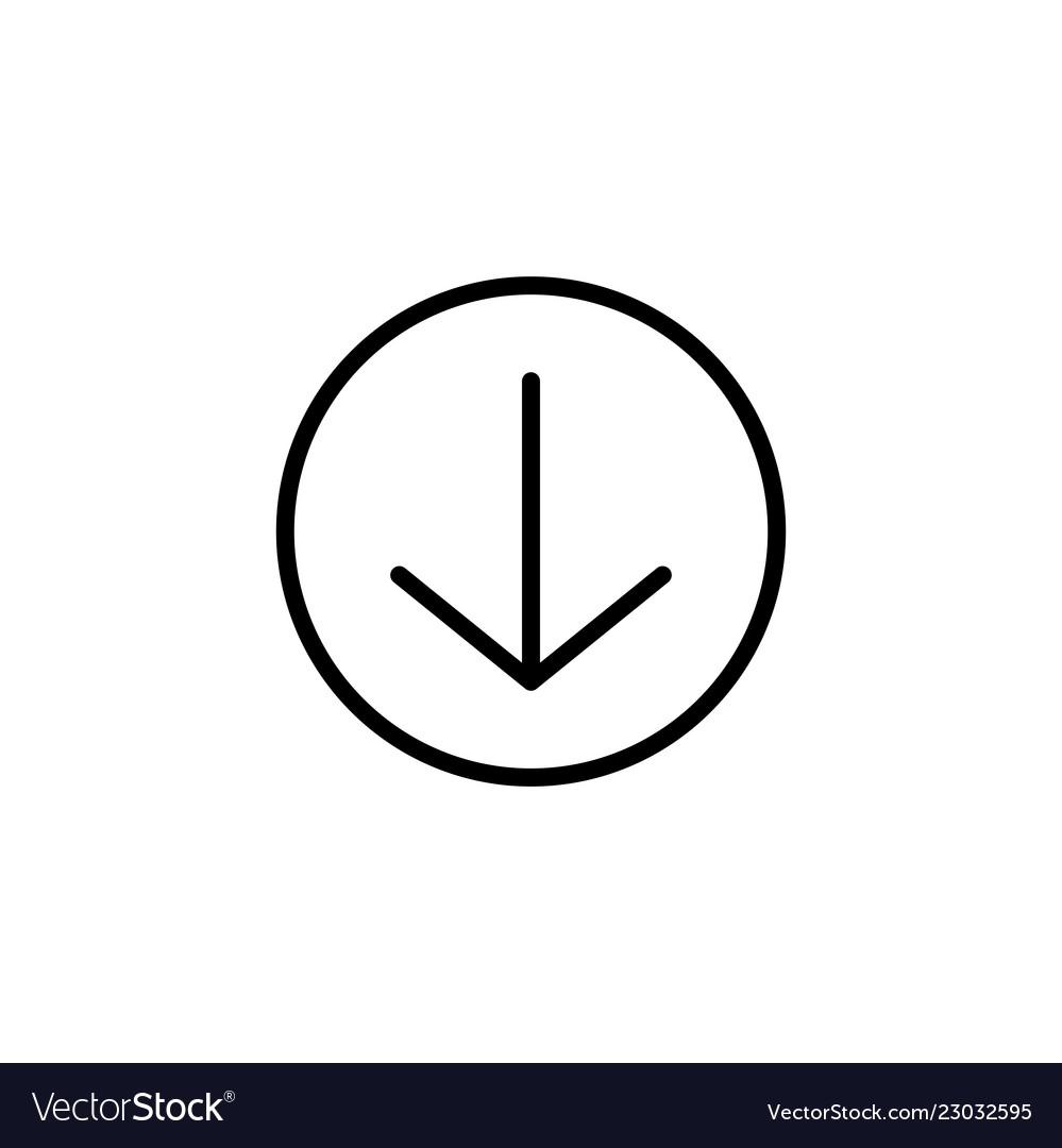 Scroll down icon scrolling sybmol for web design