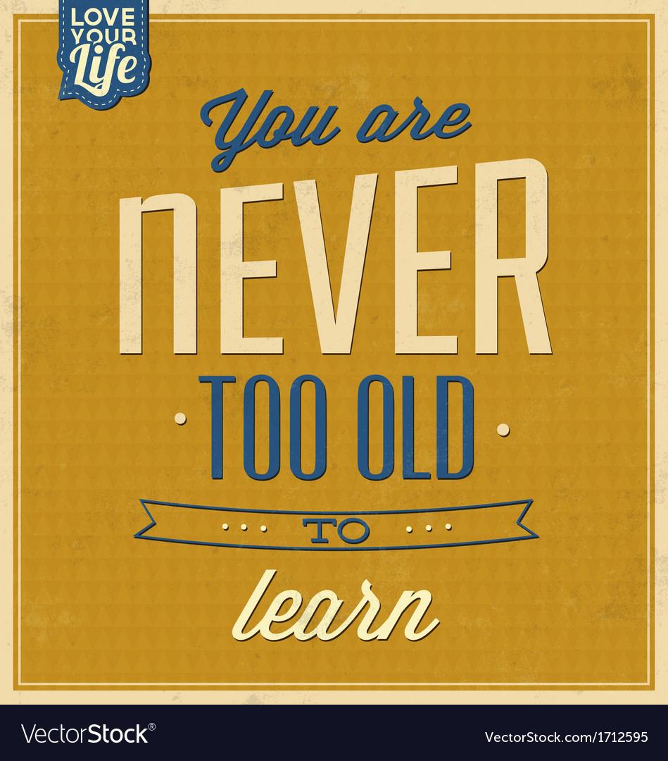 Vintage Quote Typographic Background