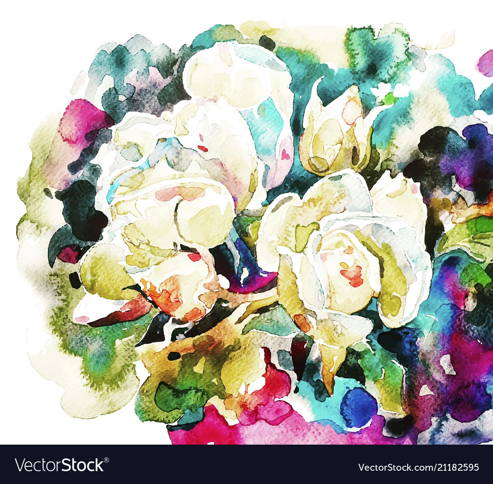 White roses on messy background