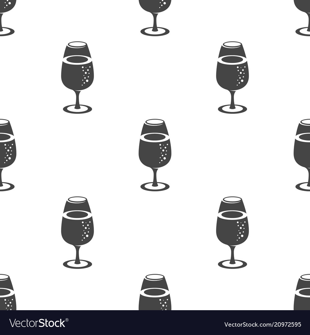 Wine in the glass seamless pattern