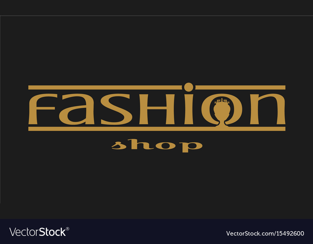 Fashion Shop Logo Design Royalty Free Vector Image